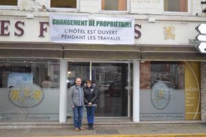 Photo changement de propriétaire, fabienne et bruno en janvier 2016.
